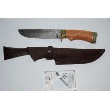 Нож Варяг (дам. ст, литье, стабил. карельская береза)