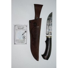Нож Ястреб (ст. D-2, дюраль, черное дерево)
