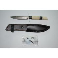 Нож НКВД (кован. ст. Х12МФ, кость, эбонит)