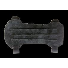 Крага охотничья 20см (черная замша)
