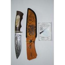 Нож Близнец (кован. ст. 95Х18, венге, литье, кость, гравировка)