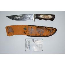 Нож Легионер (кован. ст. 95Х18, кость, гравировка)